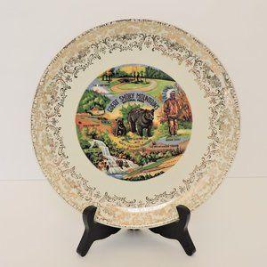 Vintage plate Great Smoky Mountains EUC